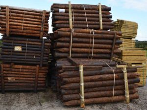 Large Creosote Treated Strainer Posts